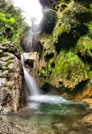 Una cascata alla Valle delle Ferriere