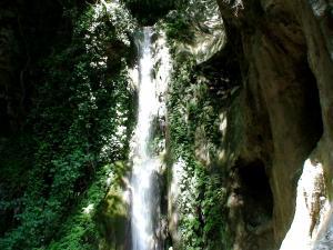Una cascata d'acqua nel Vallone Porto di Positano