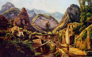 Valle dei Mulini, Amalfi. In un dipinto di Gigante
